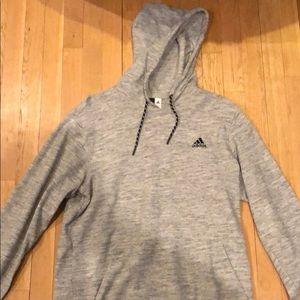 Grey adidas workout hoodie large